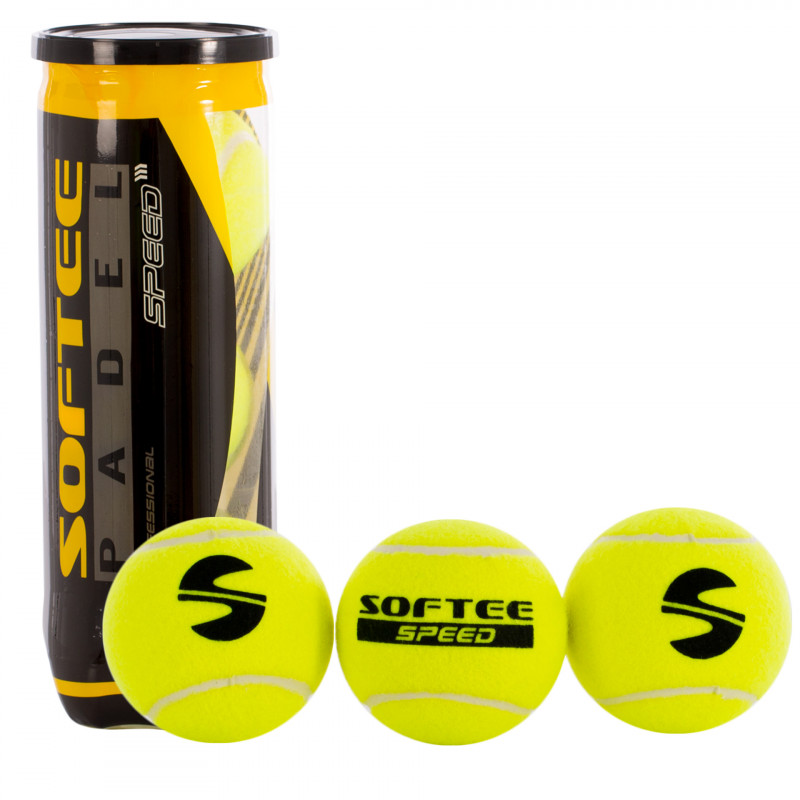 BOTE 3 PELOTAS PADEL SOFTEE SPEED